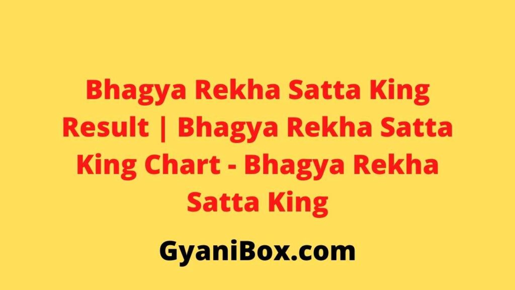 Bhagya Rekha Satta King